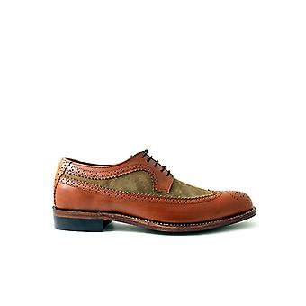 Handcrafted Premium Leather Opal Brogue Brown Leather