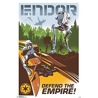 Star Wars - Endor-Plakat-Druck