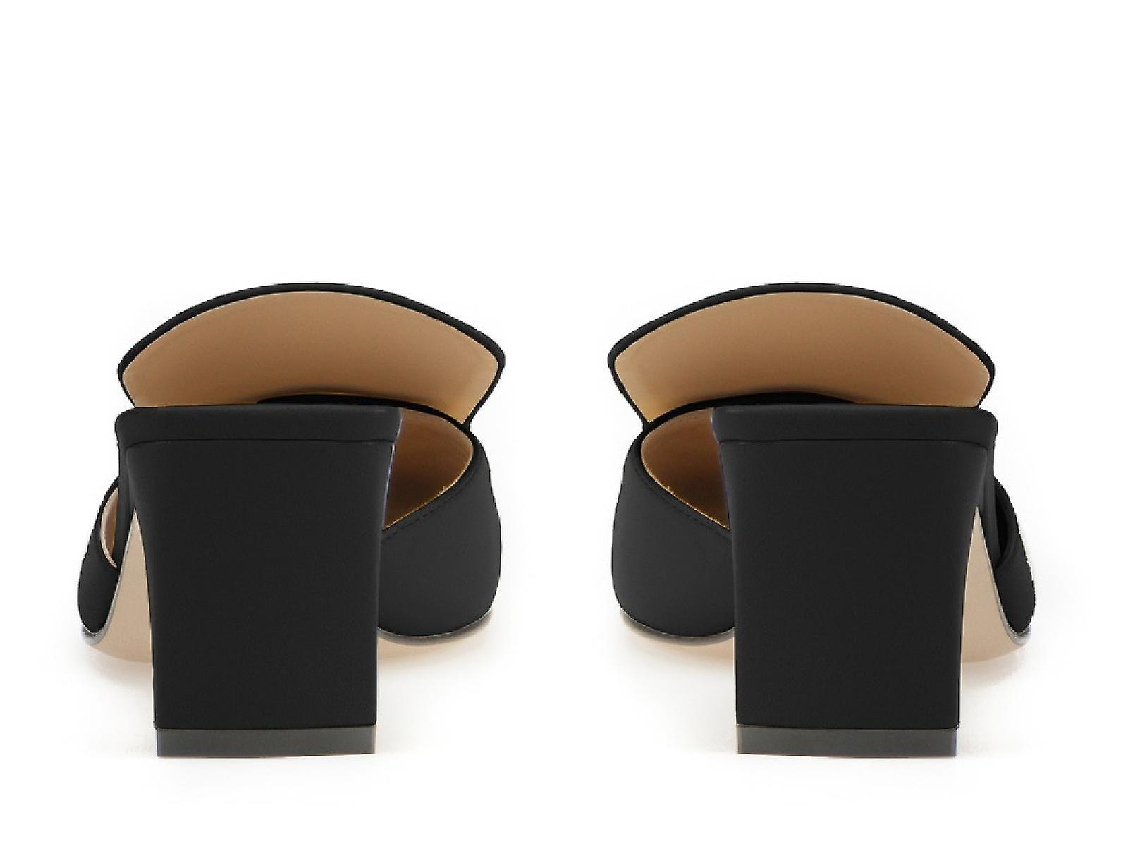 Sergio Rossi thong noir cuir chaussons chaussures femme