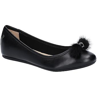 Hush Puppies Womens Heather Puff Flat Leather Ballet Shoes