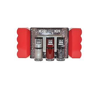 Maybelline Merry Little Mani Color Show Set Downtown Red, Water and Black