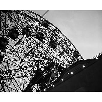 1920s Looking Up At Wonder Wheel Amusement Ride Coney Island New York Usa Poster Print By Vintage Collection