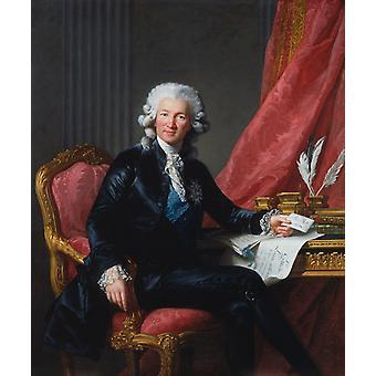 Charles-Alexandre de, Elisabeth LouiseVigee Lebrun, 60x50cm