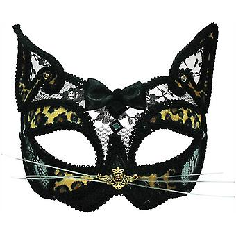 Leopardo máscara transparente en la venda.