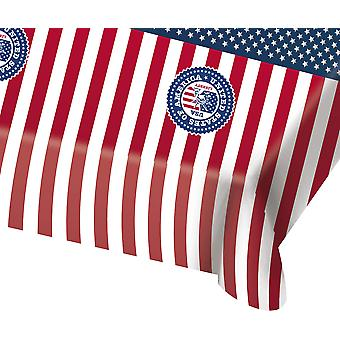 USA party tablecloth 130x180cm flag stars and stripes Party America
