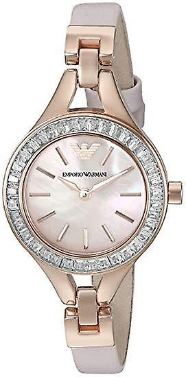 Dress pink mother of pearl dial ladies watch ar7413