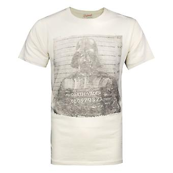 Junk Food Star Wars Darth Vader Mugshot Men's T-Shirt White