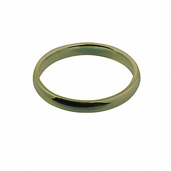 9ct Gold 3mm plain Court shaped Wedding Ring Size Z
