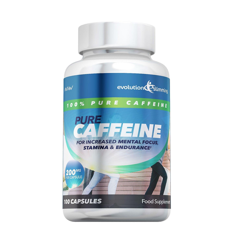 Pure Caffeine Powder 200mg Capsules - 200 Capsules - Caffeine Supplement - Evolution Slimming