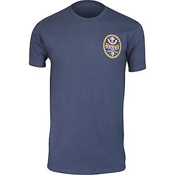 Quiksilver Herren HI Bier Hawaii T-Shirt-Blue Knights