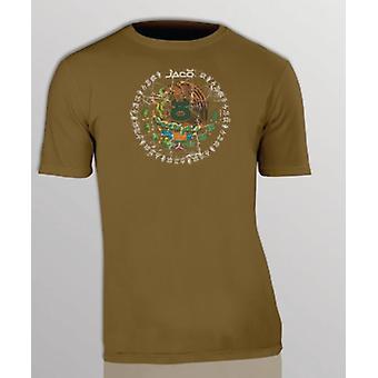 Jaco Mens Mexico Crest T-Shirt -Brown