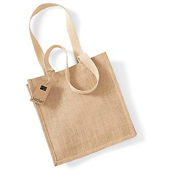 Westford Mill Jute Compact Tote Bag - 10 Litres (Pack of 2)