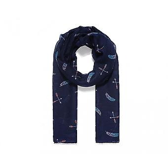 Intrigue Womens/Ladies Feather And Arrow Print Scarf