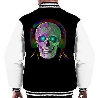 Skull Spark Headphones Men's Varsity Jacket