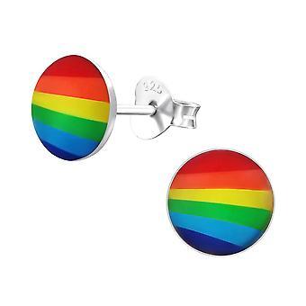 Kinderen Sterling Silver Rainbow ronde Stud Oorbellen