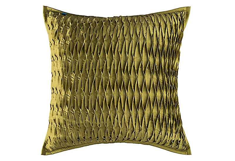 Embroidered Pinched Perfection Throw Pillow Cover