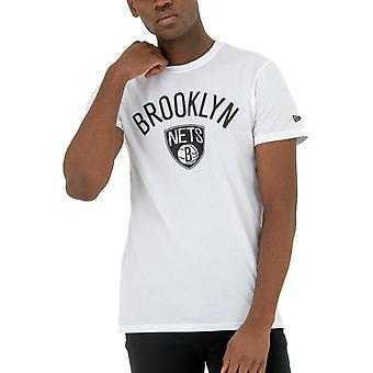 New Era Basic Shirt-NBA Brooklyn Nets White