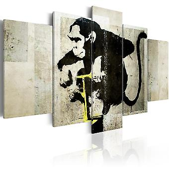 Schilderij - Monkey TNT Detonator (Banksy)