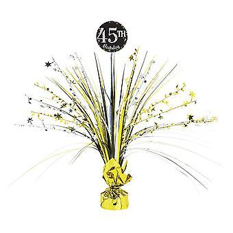 Amscan Sparkling Celebration 45th Birthday Centrepiece Spray