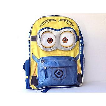 Backpack - Despicable Me - Minions Face 3D Eyes Face School Bag New 122526