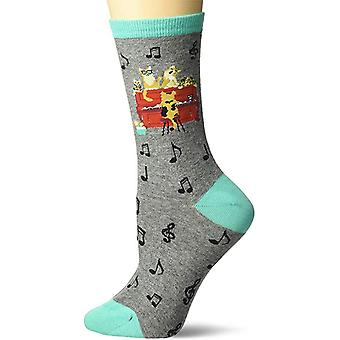 Chaussettes d'équipage femmes - K Bell - Piano Cats Gray Heather (9-11)