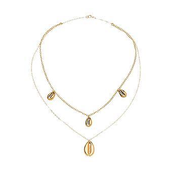 Gemshine Maritim Nautic kaula koru Choker Kauri Shell 925 hopea tai kullattu