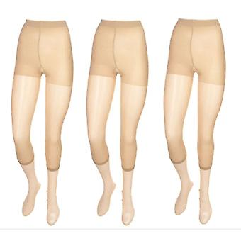 Legacy Set of Three Soft & Light Everyday Pantyhose Nude Beige A0463