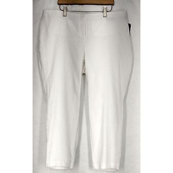 Alfani Plus Pantalones Jacquard Tejido Python Impresión Pantalón Blanco Mujeres