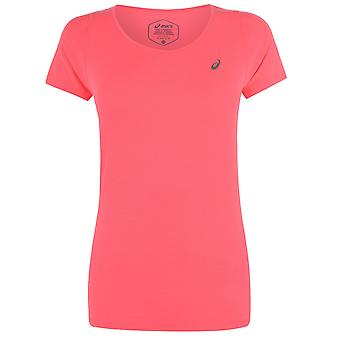 Asics Womens Short Sleeve Performance T-Shirt V Neck Tee