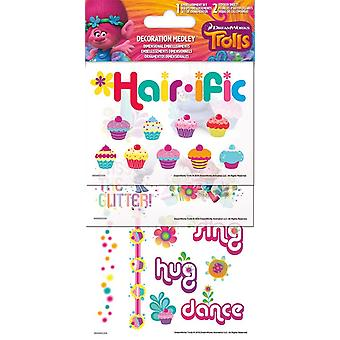 Sticker Decoration Medley - Trolls - Games Toys Set Pack sc5079
