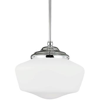 Sea Gull Lighting Academy 12 inch 1-Light Flourecent Pendant Light Chrome