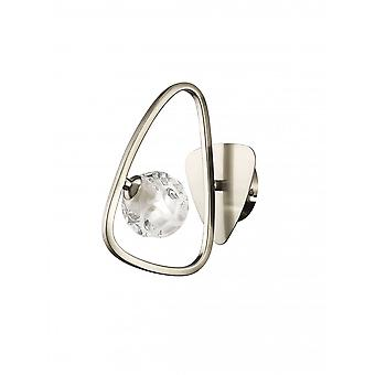 Mantra Lux Switched Wall Lamp 1 Light G9, Polished Chrome