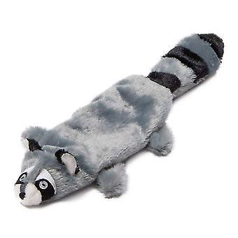 Animate Raccoon Flat Friend Plush Dog Toy
