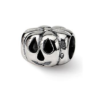 925 plata esterlina pulido acabado Reflexiones Jack o linterna perla encanto colgante collar regalos de joyería para las mujeres