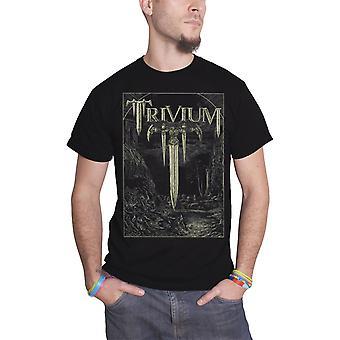 Trivium T Shirt Battle Sword T Band Logo Official Mens New Black