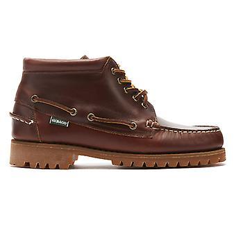Sebago Ranger Waxy Mid Mens Brown Boots