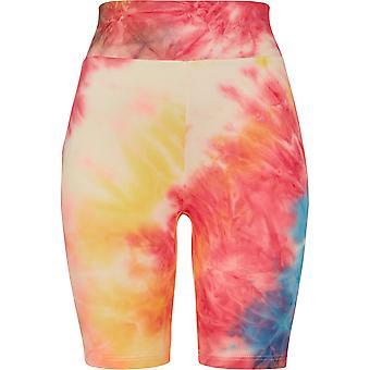 Urban Classics vrouwen shorts tie dye hoge taille fietsen