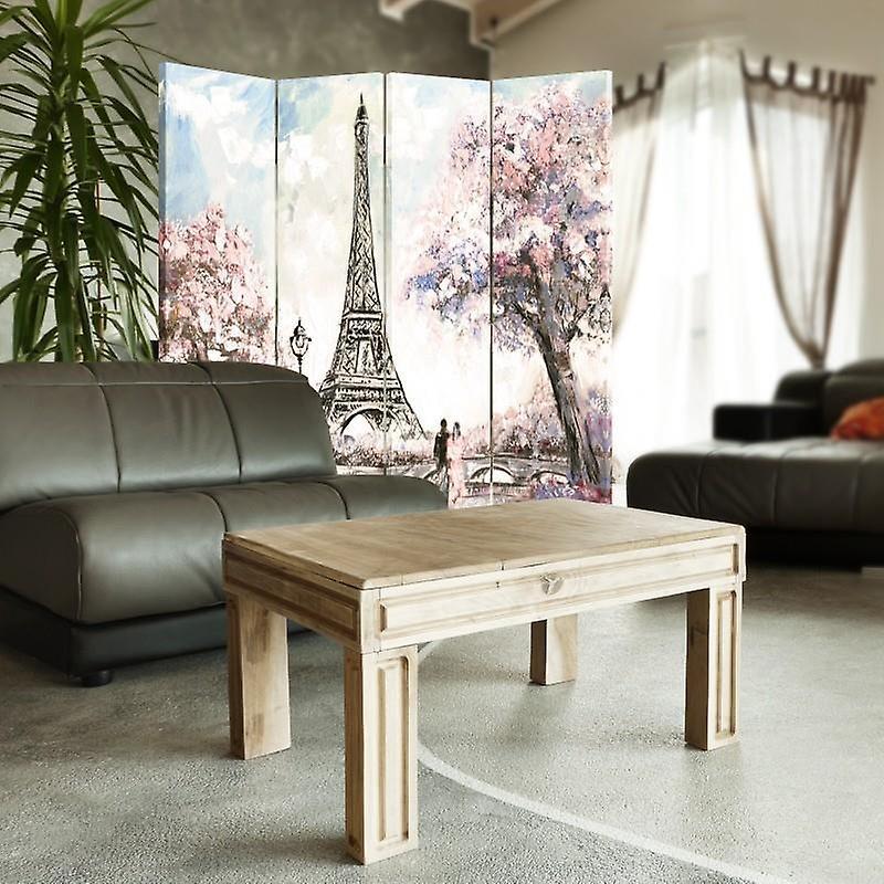 Diviseur de chambre, 4 panneaux, toile, printemps à Paris