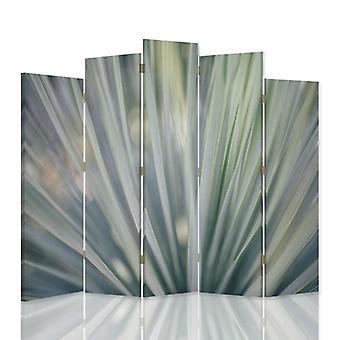 Dekorativa rumsavdelare, 5 paneler, dubbelsidig, canvas, svävande abstraktion