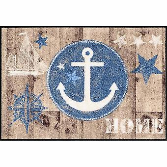 Salon lion foot mat washable welcome home anchor wood 50 x 75 cm SLD1294-050 x 075