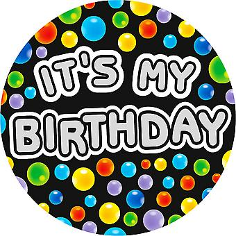 Expression Factory Mens Its My Birthday Giant Badge