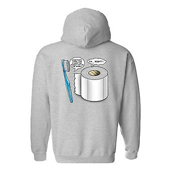 Men's Zip-Up Hoodie Worst Job Toothbrush/Toilet Paper