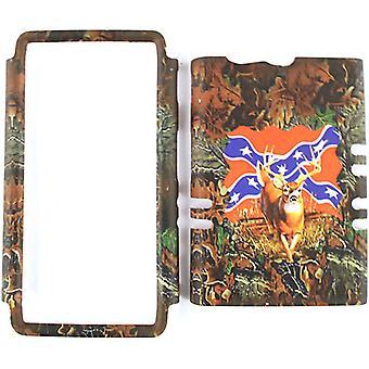 Unlimited Cellular Rocker Snap On Cover pour Motorola XT913/Razr Maxx (Hunter Series Deer on Rebel Flag)