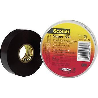 3M 80610833800 Electrical tape Scotch® Super 33 Black (L x W) 6 m x 19 mm 1 Rolls