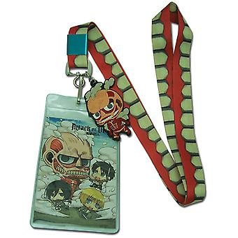 Lanyard - Attack on Titan - New SD Colossal Titan Toys Licensed ge37671