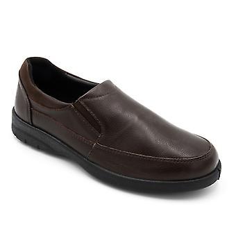 Padders الجاذبية الرجال جلد واسع (ز / ساعة) أحذية براون