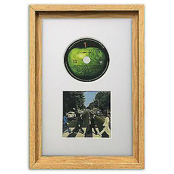 "Hoxton CD Picture Oak Frame & White Mount Memorabilia Wall Art Album 14x9"""