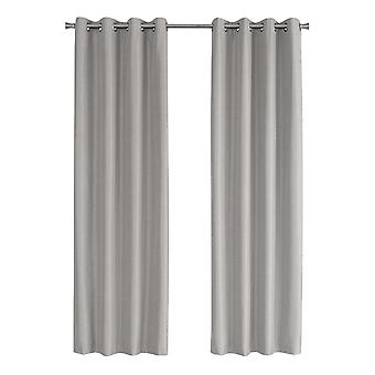 """52"""" x 84"""" Silver, Solid Blackout - Curtain Panel 2pcs"""