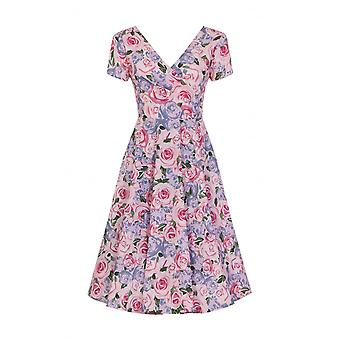Collectif Vintage Women's Maria Country Garden Floral Swing Dress