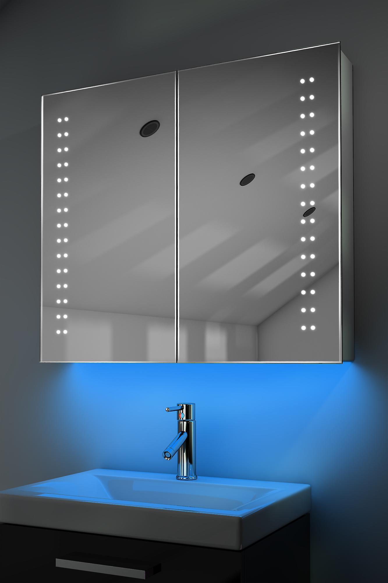 Demist Cabinet With LED Under Lighting, Sensor & Internal Shaver k364w